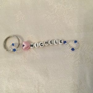 MICHELE personalized keychain-NEW